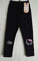 Лосины  на меху детские , теплые для девочки Китти, Hello Kitty