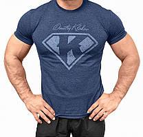 Мужская спортивная футболка для занятий Crossfit и тяжелой атлетики WINNER Супер К Клоков