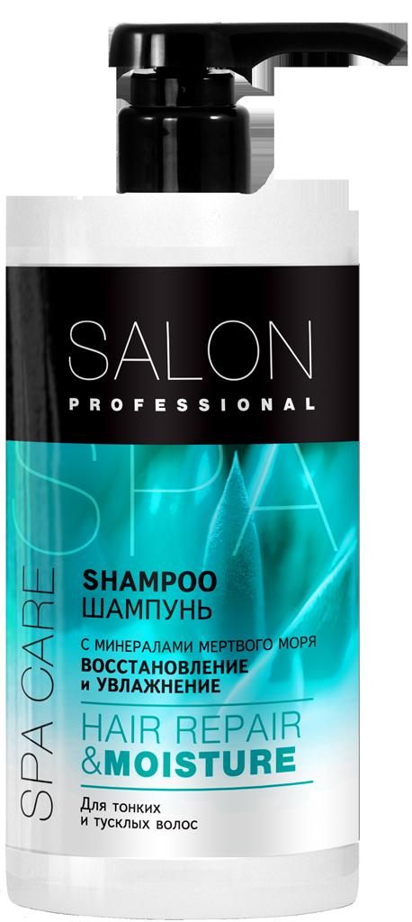 """Шампунь """"Восстановление и увлажнение"""" для тонких, тусклых и пористых волос ТМ """"Salon Professional SPA"""" ,1000мл"""
