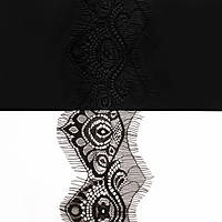 Кружево ЮС арт.060 черное шантильи, 7 см