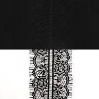 Кружево ЮС арт.062 черное шантильи, 10 см