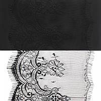 Кружево ЮС арт.064 черное шантильи, 18 см