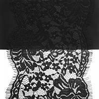 Кружево ЮС арт.067 черное шантильи, 12 см