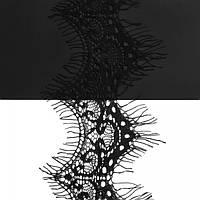 Кружево ЮС арт.069 черное шантильи, 4-7 см