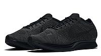 Mужские кроссовки Nike Flyknit Racer Black Mono, фото 1