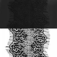 Кружево ЮС арт.070 черное шантильи, 9 см