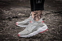 Серые мужские кроссовки Nike Huarache реплика
