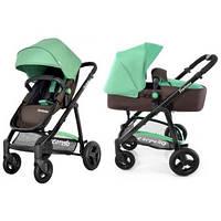 Коляска прогулочная-трансформер 2в1 CARRELLO Fortuna (коричнево-зелёная), Baby Tilly, CRL-9001BROWNGREEN