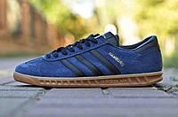 Кроссовки мужские Adidas Originals Hamburg Натуральная синие
