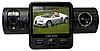 Автодорожный видеорегистратор Х 6000 GPS/2 камеры, LUO /06
