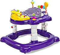 Многофункциональные ходунки 3 в 1 Caretero Hip Hop ( purple ), игровой развивающий центр