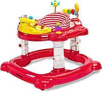 Многофункциональные ходунки 3 в 1 Caretero Hip Hop ( red ), игровой развивающий центр
