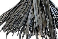 Шнурки для обуви с пропиткой (70см) плоские, черные