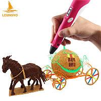 3D ручка с LED дисплеем Leungyo LYP03 голубая