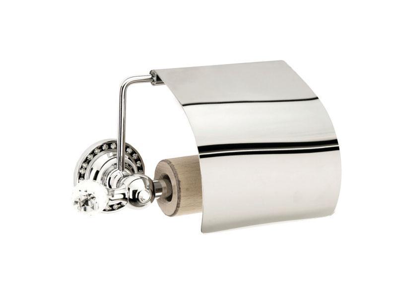 Держатель для туалетной бумаги с крышкой Kugu Swan 411C, хром