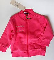 Кофта для девочек На молнии На флисе 9-12 месяцев Розовый Хлопок 152-089(74) Bubble Турция