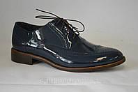 Туфли мужские, кожаная подошва, лаковые
