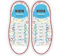 Шнурки силиконовые для обуви AntiLaces Kids Белый 38мм, KW38