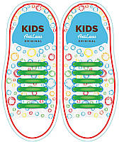 Шнурки силиконовые для обуви AntiLaces Kids Зеленый 38мм, KG38