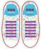 Шнурки силиконовые для обуви AntiLaces Kids Фиолетовый 38мм, KV38