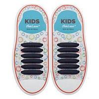 Шнурки силиконовые для обуви AntiLaces Kids Черный 38мм, KB38