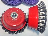 Металлическая щетка жесткая плетенная проволока d100 мм M14