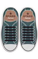 Шнурки силиконовые для обуви AntiLaces Start Черный 56,5мм, SB565