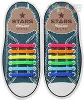 Шнурки силиконовые для обуви AntiLaces Start Радуга 56,5мм, SRBW565