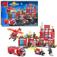 Конструктор BRICK 911 (12шт) Пожарная  тревога, в кор-ке, 54-39-7см