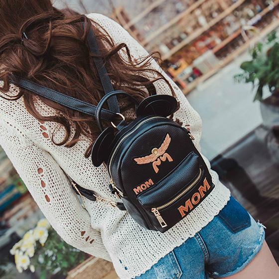 Модный мини рюкзак с ушками