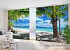 """Фото Штори в зал """"Вихід до океану"""" 2,7 м*3,5 м (2 полотна по 1,75 м), тасьма)"""