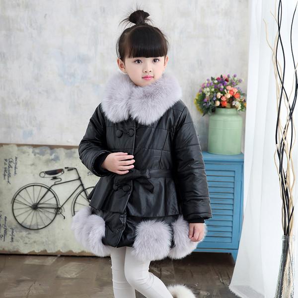 Куртка зимняя детская с меховыми шариками снизу