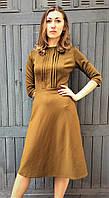 Платье миди оливковое П203, фото 1