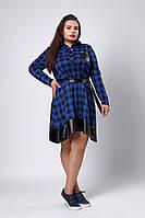 Платье мод №532-1, размеры 52,54,56,58 электрик