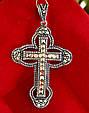 Серебряный крестик с марказитами. Капельное серебро, фото 5