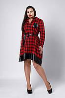 Платье мод №532-2, размеры 52,54,56,58 красное