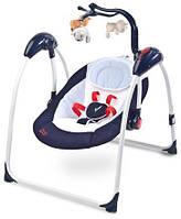 Детский шезлонг, кресло-качалка, детская качель Caretero Loop - navy
