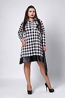 Платье мод №532-3, размеры 52,54,56,58 белое