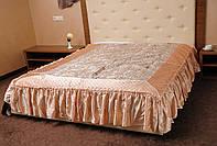 Нарядное покрывало на кровать Ретро 180*200.Бежевый.