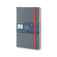 Блокнот Moleskine Limited Blend Средний 240 страниц Синий в Линейку в Тканевой обложке (13х21 см), фото 1