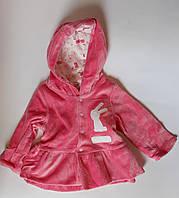 Кофта для девочек На кнопках 6-9 месяцев Розовый Велюр 152-080(68) Bubble Турция