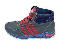 Мужские зимние кроссовки с нат.кожи Cross Fit Stael 43 Blue Red размеры: 40 41 42 43 44 45