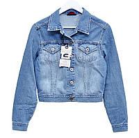 Пиджак женский джинсовый Crown Jeans модель 405 (IGLO BLUE) Vintage denim collection