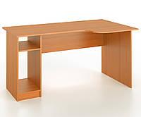 Стол письменный угловой закругленный с местом под системный блок, фото 1