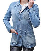 Пиджак женский джинсовый Crown Jeans модель 466 (IGLO BLUE) Vintage denim collection