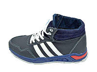 Мужские зимние кроссовки с нат.кожи Cross Fit Stael 43 Blue White размеры: 40 41 42 43 44 45