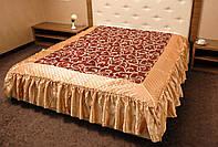 Романтичное покрывало на кровать Ретро 180*200. Шоколад
