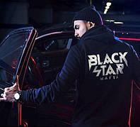 Худи с белым принтом Black Star | Толстовка Mafia logo