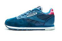 Кроссовки унисекс, синие Reebok Classic, р. 36 37 38 39 40