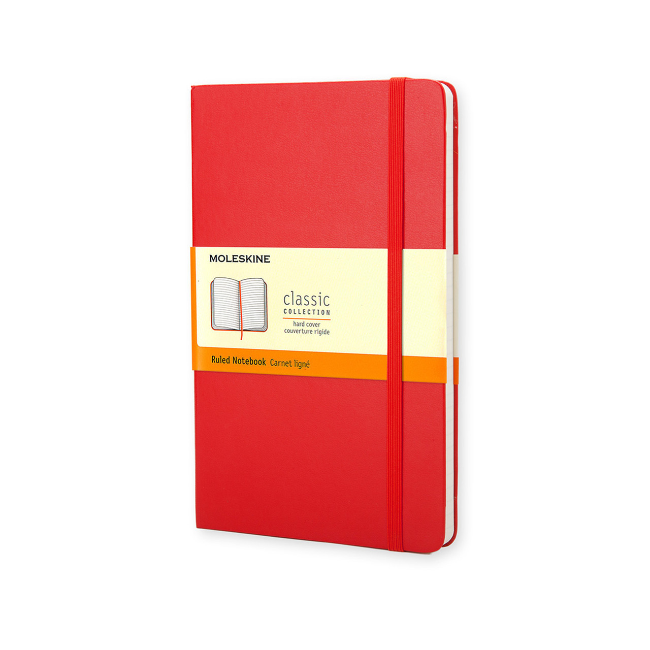 Блокнот Moleskine Classic Красный Средний 240 страниц в Линейку (13х21 см), фото 1